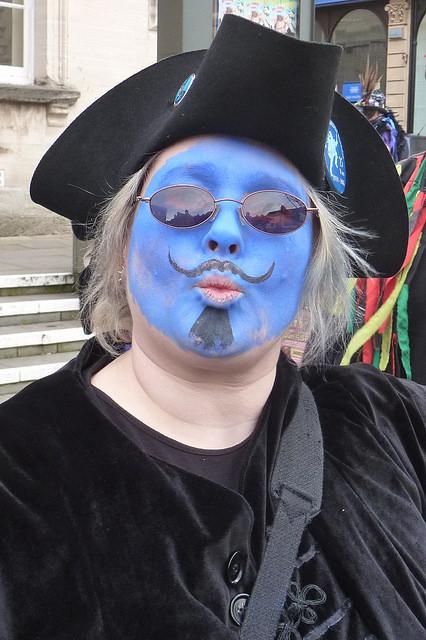 With their blue faces and creative flair, Bakanalia proved popular. (Photo (c) Mike Finn)