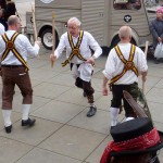 The Chippenham Morris Men put on a lively performance outside the Sub Rooms in the afternoon. (Photo (c) Mike Finn)