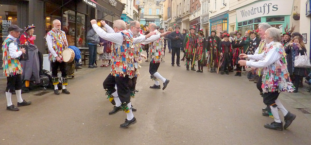 The Forest of Dean Morris Men put on a great performance in the High Street. (Photo (c) Mike Finn)