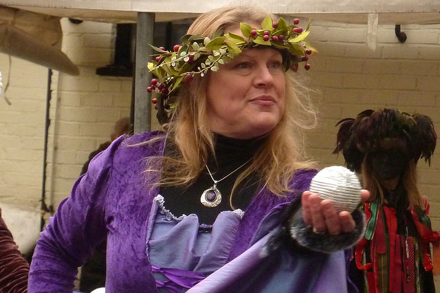 Merrie Morgana brought some medieval glamour to the day. (Photo (c) Mike Finn)