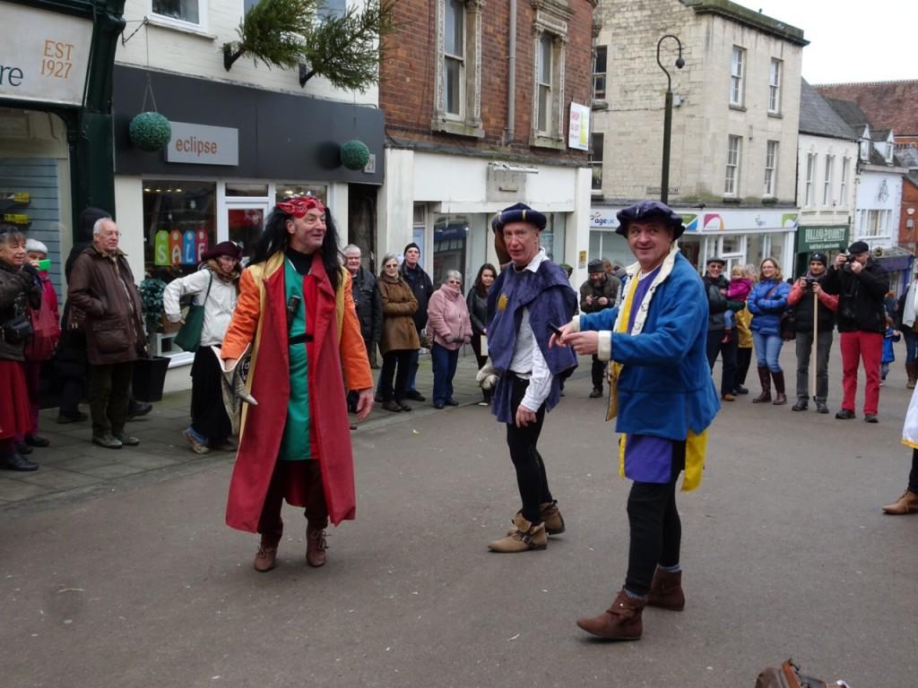 Shrewsbury Mummers were a highlight of the day. (Photo (c) Sue Jones)