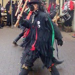 Host morris side Styx of Stroud Border Morris stepping out at the Queen Vic. (Photo (c) Mike Finn)