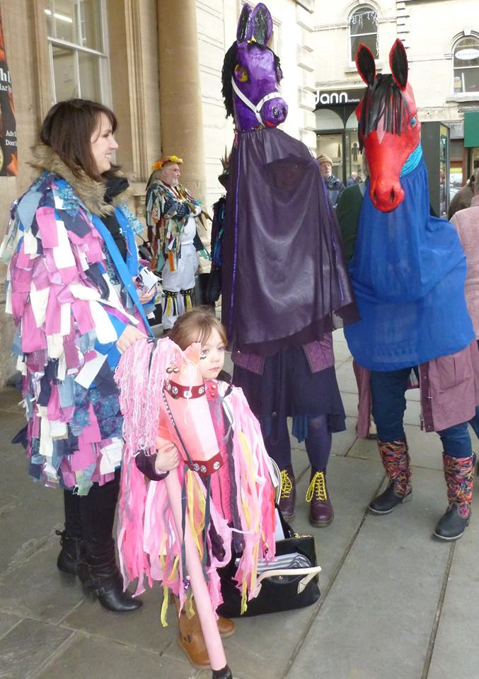 There were hobby horses wandering round the town... (Photo (c) Robin Burton)