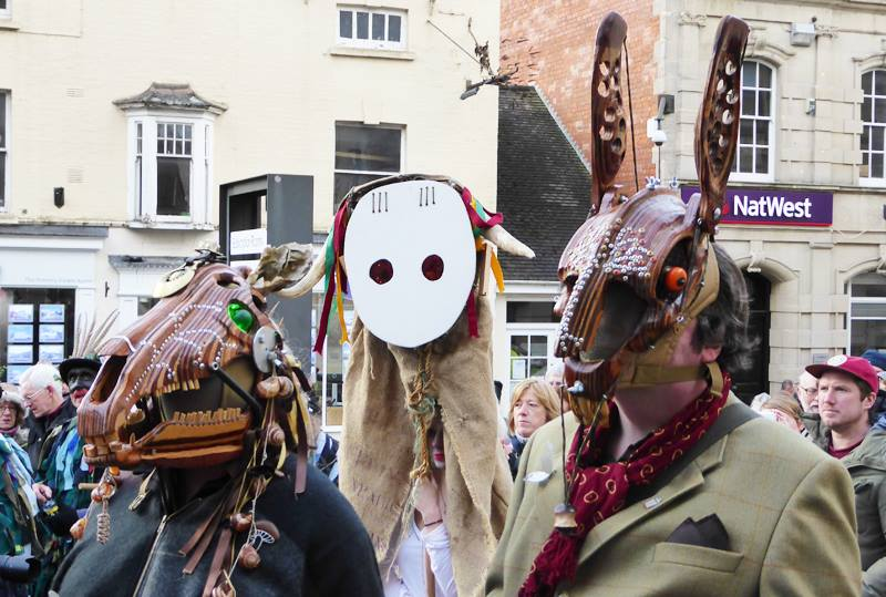 Strange beasts begin to gather on the Subscription Rooms forecourt around lunchtime.... (Photo (c) Deborah Roberts)