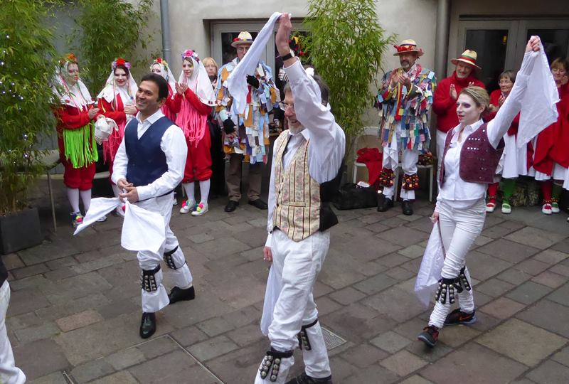 The brand new Gloucestershire Mixed Morris at their first public performance. (Photo (c) Deborah Roberts)