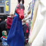 A hobby horse and a Mari Lwyd wonder if they might be related. (Photo (c) Deborah Roberts)